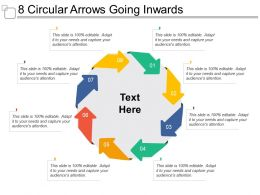 8 Circular Arrows Going Inwards
