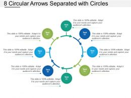8 Circular Arrows Separated With Circles