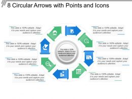 8 Circular Arrows With Points And Icons