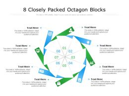 8 Closely Packed Octagon Blocks