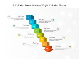 8 Colorful Arrow Made Of Eight Colorful Blocks