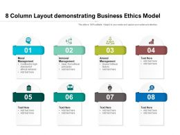 8 Column Layout Demonstrating Business Ethics Model