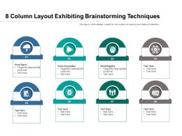 8 Column Layout Exhibiting Brainstorming Techniques
