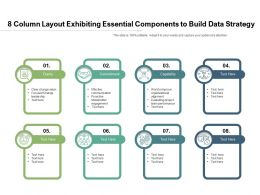 8 Column Layout Exhibiting Essential Components To Build Data Strategy