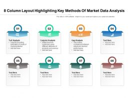 8 Column Layout Highlighting Key Methods Of Market Data Analysis