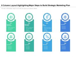 8 Column Layout Highlighting Major Steps To Build Strategic Marketing Plan