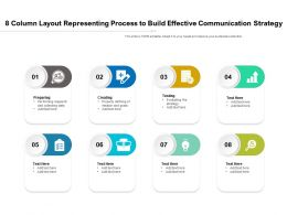 8 Column Layout Representing Process To Build Effective Communication Strategy