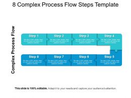 8 Complex Process Flow Steps Template Powerpoint Layout