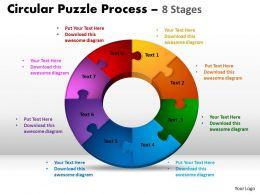 8 Components Circular Puzzle Process 7