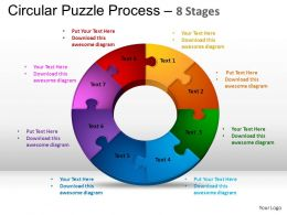 8 Components Circular Puzzle Process Powerpoint Slides And ppt Templates 0412