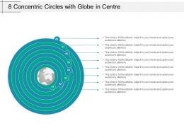 8 Concentric Circles With Globe In Centre