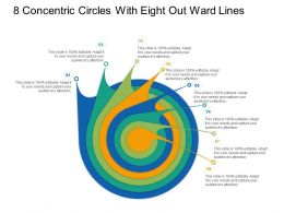 8 Concentric Circles With Seven Out Ward Lines