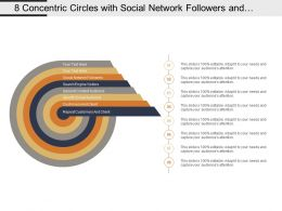 8 Concentric Circles With Social Network Followers And Repeat Customers And Clients
