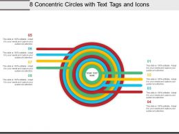 8 Concentric Circles With Text Tags And Icons