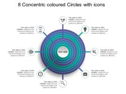 8 Concentric Coloured Circles With Icons