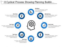 8 Cyclical Process Showing Planning Building Maintaining And Improving