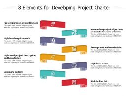 8 Elements For Developing Project Charter