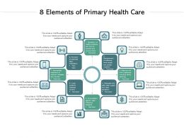 8 Elements Of Primary Health Care