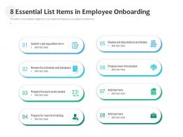8 Essential List Items In Employee Onboarding