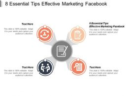 8 Essential Tips Effective Marketing Facebook Ppt Powerpoint Presentation Professional Graphics Cpb