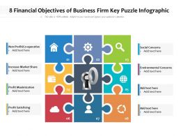 8 Financial Objectives Of Business Firm Key Puzzle Infographic