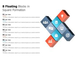 8 Floating Blocks In Square Formation