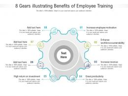 8 Gears Illustrating Benefits Of Employee Training