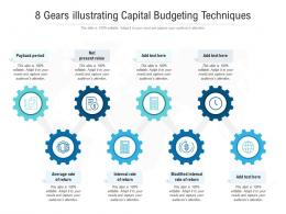 8 Gears Illustrating Capital Budgeting Techniques