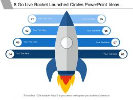 8 Go Live Rocket Launched Circles