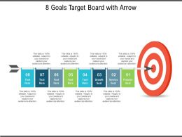 8 Goals Target Board With Arrow