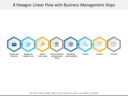 8 Hexagon Linear Flow With Business Management Steps