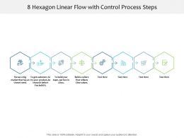 8 Hexagon Linear Flow With Control Process Steps