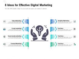 8 Ideas For Effective Digital Marketing