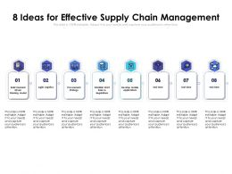 8 Ideas For Effective Supply Chain Management