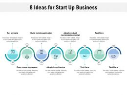 8 Ideas For Start Up Business