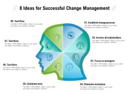 8 Ideas For Successful Change Management