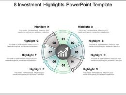 8 Investment Highlights Powerpoint Template