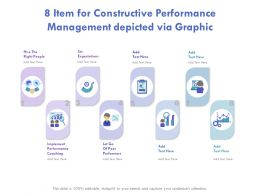 8 Item For Constructive Performance Management Depicted Via Graphics