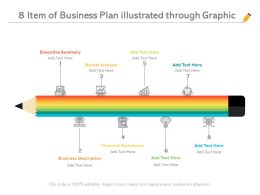 8 Item Of Business Plan Illustrated Through Graphic