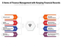 8 Items Of Finance Management With Keeping Financial Records