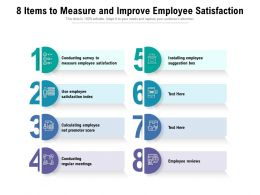8 Items To Measure And Improve Employee Satisfaction