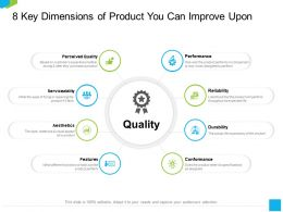 8 Key Dimensions Of Product You Can Improve Upon Actual Ppt Powerpoint Presentation Model