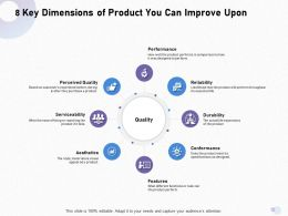8 Key Dimensions Of Product You Can Improve Upon M1688 Ppt Powerpoint Presentation Portfolio