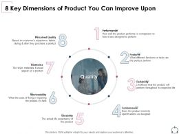 8 Key Dimensions Of Product You Can Improve Upon Serviceability Ppt Portfolio