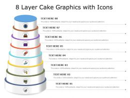 8 Layer Cake Graphics With Icons