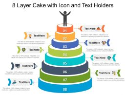 8 Layer Cake With Icon And Text Holders