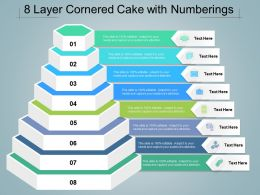 8 Layer Cornered Cake With Numberings