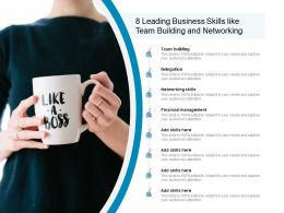 8 Leading Business Skills Like Team Building And Networking