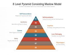 8 Level Pyramid Consisting Maslow Model