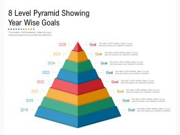 8 Level Pyramid Showing Year Wise Goals